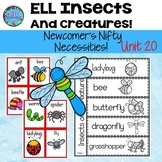 Animal Habitats First Grade - Fifth Grade,& K  Insects & Creatures  ESL ELL