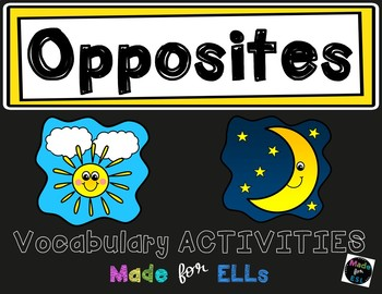 ESL Newcomer Opposites Vocabulary Activities