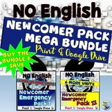 ESL Newcomer Activities Pack Mega Bundle Distance Learning Packets