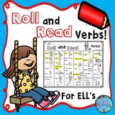 ESL Games Roll and Read Verbs Great for ELL Vocabulary