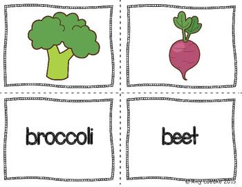 ESL Newcomer Vegetable Vocabulary Activities