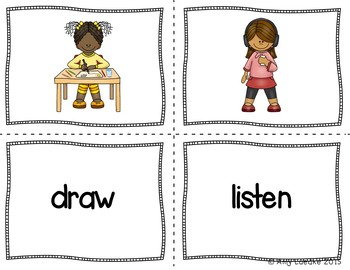 ESL Verb Vocabulary Activities