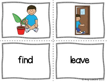 ESL Newcomer Verb Vocabulary Activities #2