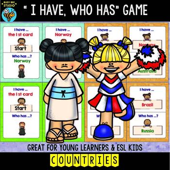 "ESL Newcomer Vocabulary Game: Countries ""I have, who has?"""