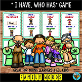 I have , who has | Family Words