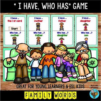 ESL Newcomer Vocabulary Game: Family