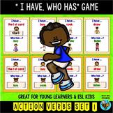 """Action Verbs Game """"I have, who has """""""