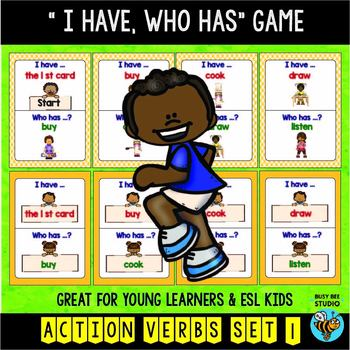 "ESL Newcomer Game : Basic Verbs (set1) ""I have, who has?"""