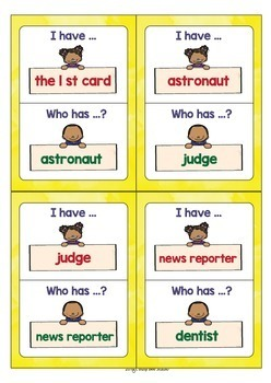 Vocabulary Game for Young Learners & ESL/ELL Kids | Jobs