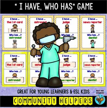 "ESL Newcomer Vocabulary Game: JOBS ""I have, who has?"""
