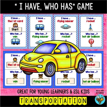 Transportation Words | I have who has Game