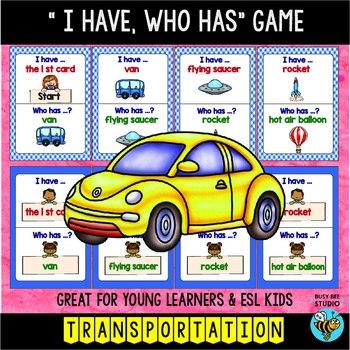 ESL Newcomer Vocabulary Game: TRANSPORTATION