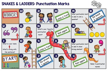 ESL Newcomer Vocabulary Games and Flash cards: Punctuation Marks