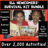 ELL Newcomers' Survival Kit Bundle ESL Distance Learning ESL Newcomer Activities