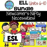 ESL Activities Bundle: Units 6-10 Fruit, Prepositions, Opposites, Homonyms, Food