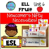 ESL Newcomers Fruit Vocabulary -  Unit 6 ELL Activities