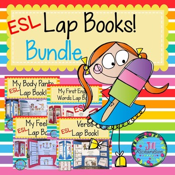 ESL Newcomers Lapbooks Bundle! Verbs, Body Parts, Feelings