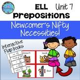 ESL Newcomers Prepositions-  Unit 7 ELL Activities