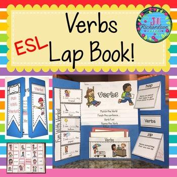 ESL Vocabulary for Beginners! (ELL Newcomer Verbs Lapbook) ESL Verbs