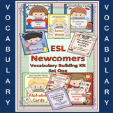 ESL Vocabulary Cards + Conversation Building Kit- An ESL Activity-ELL Newcomers