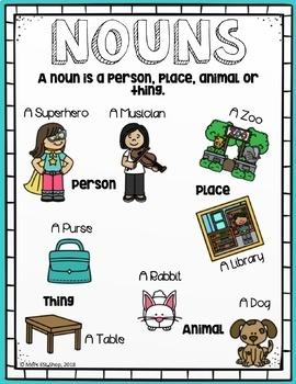 ESL Nouns - ESL Posters, Worksheets & Activities #startfreshbts