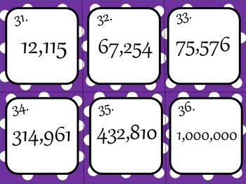 ESL Numbers Task Cards 100-1,000,000 Speaking, Listening, Writing Activity