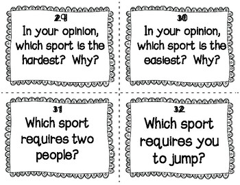 ESL Olympic Sports Task Cards