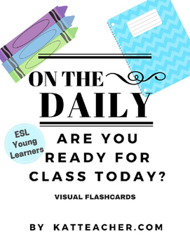 ESL On the Daily: Visual Flashcards for School Supplies and Commands