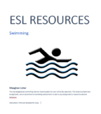 ESL - Online Classroom - Swimming Themed Reward