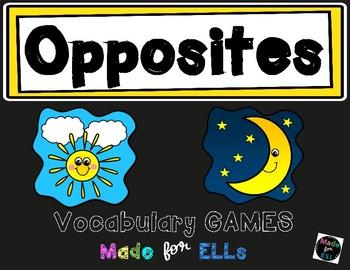 ESL Opposites Vocabulary Board Game