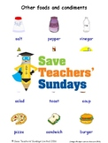 ESL Other Food & Condiments Worksheets, Games, Flash Cards & More (with audio)