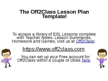 ESL PPT Lesson Plan Template