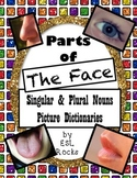 ESL Parts of the Face:  Vocabulary Picture Dictionaries Singular Plural
