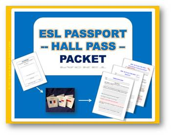 ESL Passport HALL PASS (Packet with Quiz and Translation Page)