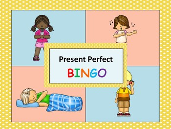 ESL: Past Participle Bingo