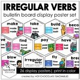 ESL Past Tense Irregular Verb Posters |  Bulletin Board Di