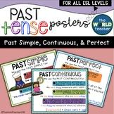 ESL Past Tense Posters - Past Simple, Past Continuous, Past Perfect