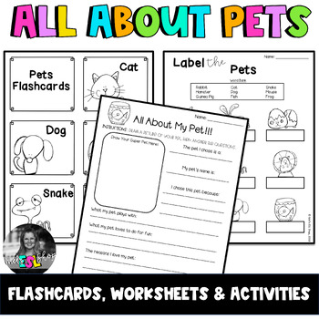 ESL Pets- Flashcards, Worksheets & Activities