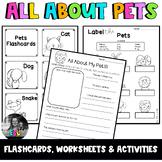 ESL Pets- Flashcards, Worksheets & Activities