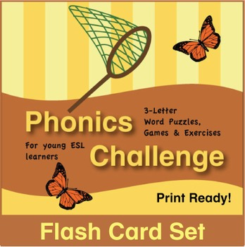 ESL Phonics Challenge, Book 1 - Flash Cards