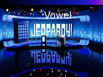 ESL Phonics - jeopardy game - vowels ( long/short - magic e - y) and template