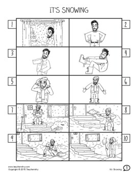 ESL Activity: Snowing Picture Story & Worksheets