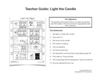 ESL Activity: Safety in the Home Picture Story & Worksheets
