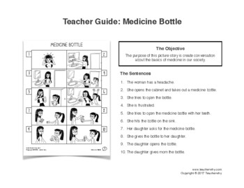 ESL Activity: Medicine Picture Story & Worksheets