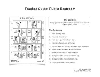 ESL Activity: Public Signs Picture Story & Worksheets