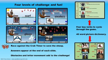 ESL Pirate Penguins. Vocabulary PowerPoint Games to learn CLOTHES in English