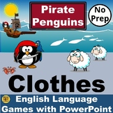 ESL Pirate Penguins. Vocabulary PowerPoint Games to learn