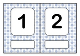 ESL Polkadot Number Flashcards or wall chart