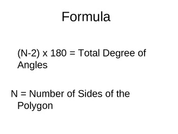 Math, Differentiated  - Math - Polygons - How To Find The Total Degree of Angles