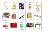 Portuguese/English flash cards, school words